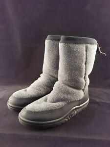 LL BEAN Women's Blue Fleece Lined Winter Boots Size 9