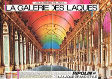 PUBLICITE ADVERTISING 065  1986  RIPOLIN  peinture  LA GALERIE DES LAQUES ( 2p)