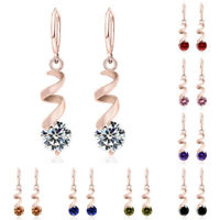 Fashion Women Chic Cubic Zirconia Crystal Drop Dangle Stud Hoop Earrings Jewelry