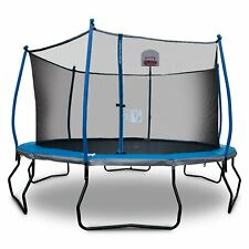 Bounce Pro 14ft Trampoline and Enclosure With Basketball Hoop