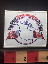 Canada & USA Flag Patch The Great North American Rv Rally C70D