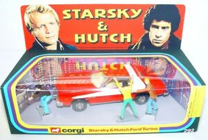 Corgi Toys 1:36 STARSKY & HUTCH FORD TORINO & 3 Figures + 1977 Repro Box MIB NEW
