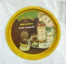 1950s Vintage Khoday's Cinq Star Brandy Publicité Boite Plateau Décoratifs BAR