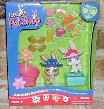 Littlest Pet Shop GARDEN BUNNIES Set White Bunny 3, Brown Rabbit 28 +++ 2006