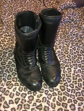 Oxtar Motorcyle Boots Size 11 Uk Rare Reflective Bike Boots Oil Fuel Resistant