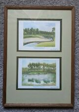 Gene Russell - Offset Lithograph of the 17th & 11th Hole at TPC Sawgrass