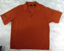 Axis L.A. Men's Orange Polo Shirt Large Short Sleeves Textured [bc]