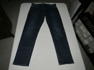 """GAP Men's Straight Athletic Fit Blue Denim Jeans Size W 34"""" L 32"""""""