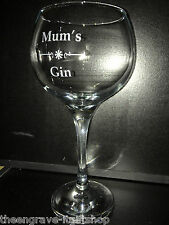 Mum's Gin - Havana Balloon Gin stemmed cocktail Glasses 620ml - Gift Boxed