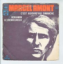 """Marcel AMONT Vinyle 45T 7"""" C'EST AUJOURD'HUI DIMANCHE Pochette Marron CBS  7913"""