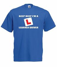 LEARNER DRIVER BEEP car christmas birthday present gift idea mens womens T SHIRT