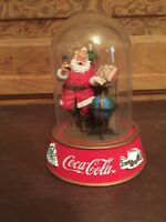 1995 Franklin Mint Coca-Cola Coke Santa Claus Christmas Globe Dome
