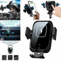 360° Automatic Clamping Qi Wireless Car Charger Mount Air Vent Cell Phone Holder