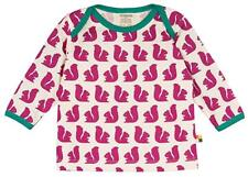 NEW! LOUD + PROUD t-shirt - White with Fuchsia SQUIRRELS size 86/92