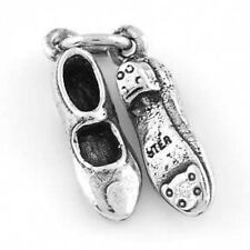 STERLING SILVER CLOGGING TAPPING SHOES CHARM PENDANT