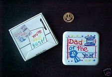 Large Dad of the Year Plastic Magnet in Box