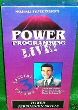 MARSHALL SYLVER - POWER PROGRAMMING LIVE  3 Volumes  HYPNOSIS NLP $199 - VHS+DVD