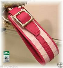 New Authentic LACOSTE KEY RING KEY FOB Chantaco Jaquard 1 Pink