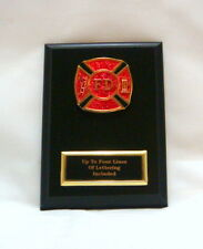 FIRE DEPARTMENT   5 X 7 PLAQUE FIREMAN  FIRE AWARD