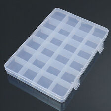 24 Compartments Plastic Box Case Jewelry Storage Container Craft Organizer Eager