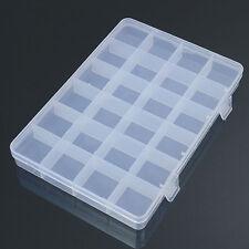 24 Compartiments Boîte en Plastique Étui Bijouterie Rangement Récipient