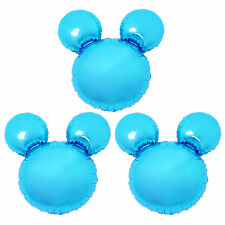 3X Birthday Party Blue Mickey Mouse Baby shower Decorations Giant Foil Balloons