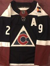 Colorado Avalanche Replica Nathan MacKinnon Jersey Size 50 New