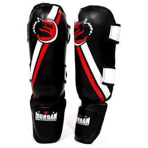 V2 Classic Shin & Instep Guard - Kick Boxing Muay Thai Protector - Morgan Sports