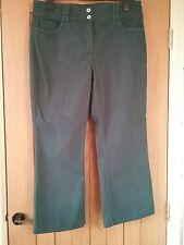 Per Una jeans. Teal blue. Size 14. Front zip. Short length. Inside leg 24.5ins