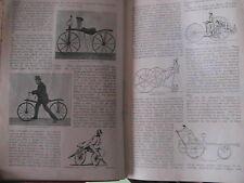 Early Cycling Evolution Cycle Bicycle Tricycle Dandy Horse Rare Old Article 1892