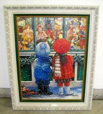 """Genuine Susan Rios """"Holiday Shopping"""" Painting Limited Edition #16 of 85 AP"""