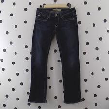 Big Star Womens Jeans Sweet Boot Ultra Low Rise 29R Dark Wash Silver Stitching