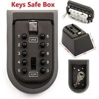 Outdoor High Security Wall Mounted Key Safe Box Code Lock Storage 4 Digit UK STO