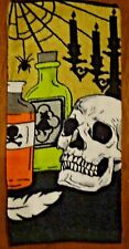 Apothecary Bottles and Skull Kitchen Towel