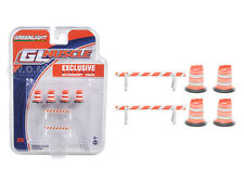 ROAD WORK ACCESSORY PACK 6PC SET SERIES 1 1/64 BY GREENLIGHT 13065