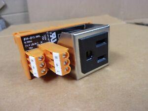 Single Receptacle Outlet 120 VAC 15 Amp Rack Mount Electrical Enclosure Box Plug