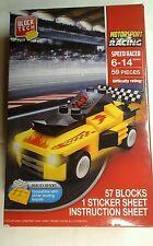 Yellow  Motorsport  Car Building  57 block  set  1 sticker  sheet  New