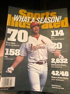 Mark McGwire hits 70th home run on Sports Illustrated 1998 - MINT - NEWSSTAND