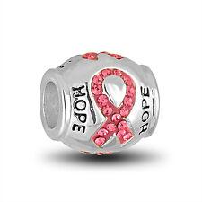 DaVinci Beads Charm - BREAST CANCER RIBBON - Buy 2 or More DaVinci and Save!