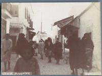 Tunisie, Tunis (تونس), Une Rue Arabe  Vintage citrate print. Photo J. Bougrier