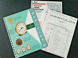 VINTAGE WESTCLOX Clocks & Watches Price List 1962 22 Pages Manar Sales Catalog