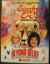 Siegfried & Roy. Beyond Belief. Souvenir Magic Program w/ Postcards.1981? NoR