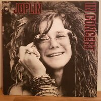 Janis Joplin Vinyl In Concert 1972 Columbia Gate Fold Double LP W/ Inner Sleeves