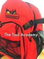 Teng Tools Red Black Backpack Rucksack Embroidered Logo 360 x 200 x 490mm