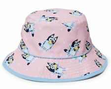 Bluey Bucket Hat Kids Cap One size Pink Christmas Gift Summer Beach Pool
