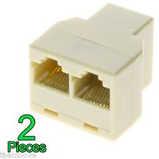 RJ45 CAT5 Ethernet Cable LAN Port 1 to 2 Socket Splitter Connector Adapter OZ