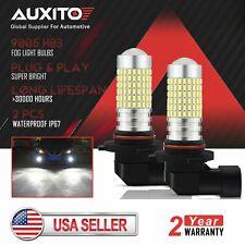 2PCS AUXITO LED DRL Driving Fog Light Bulb 144SMDS 9005 HB3 6000K Xenon White
