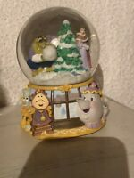 Musical Snow Globe/minuet/beauty And The Beast/ Disney/great Condition