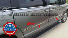 fits 2010-2019 Dodge Grand Caravan Stainless  Body Side Molding Trim Overlay 4Pc