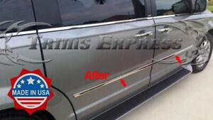 fit:2010-2020 Dodge Grand Caravan Body Side Molding Trim Overlay 4Pc- NO Return!